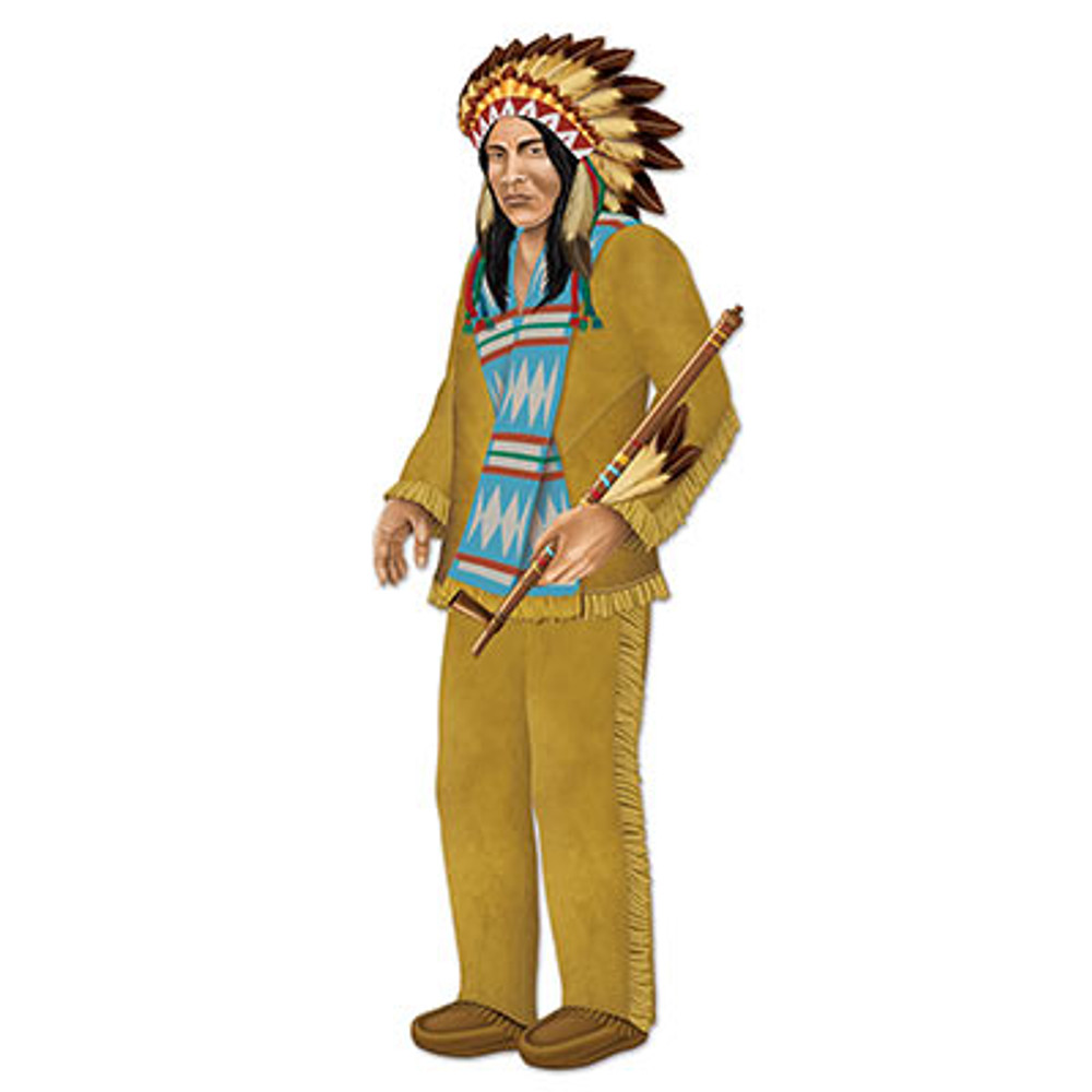 Indian Chief Jointed Cutout