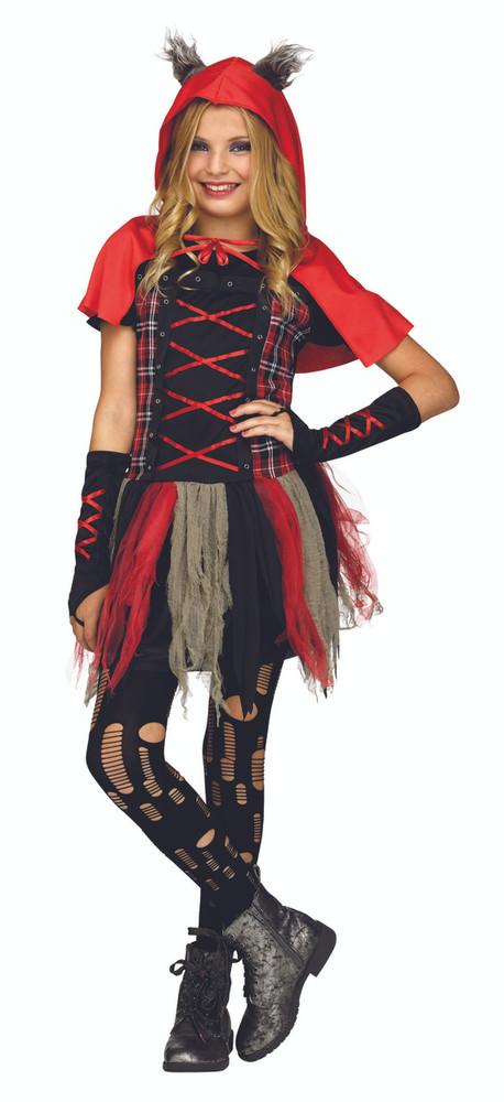 Edgy Red Hood Wolf Tween