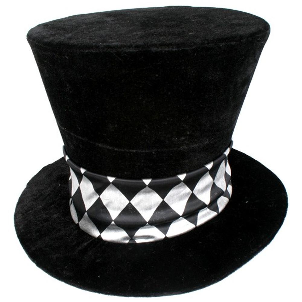 Alice in Wonderland Mad Hatter Black Top Hat
