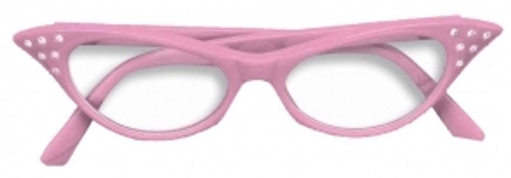1950s Rhinestone Glasses Pink