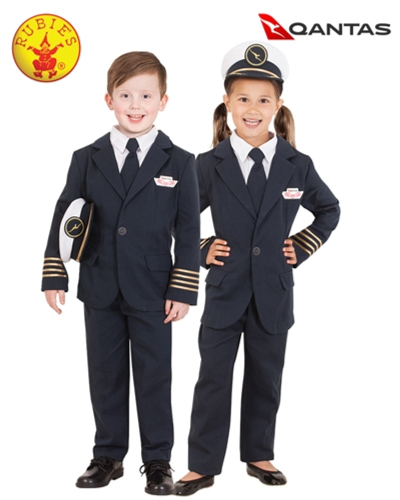 Qantas Pilot Captain Kids Uniform