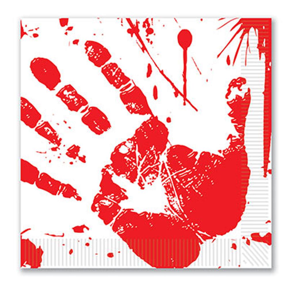 Bloody Handprint Luncheon Napkins