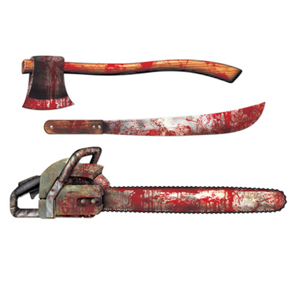 Bloody Weapons Cut Outs