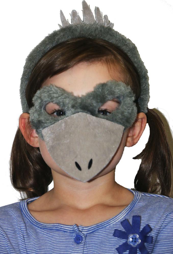 Emu Animal Headband & Mask Set