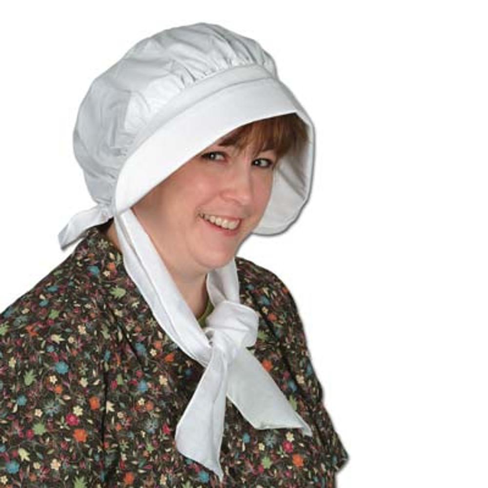 Bonnet White Colonial Pilgrim