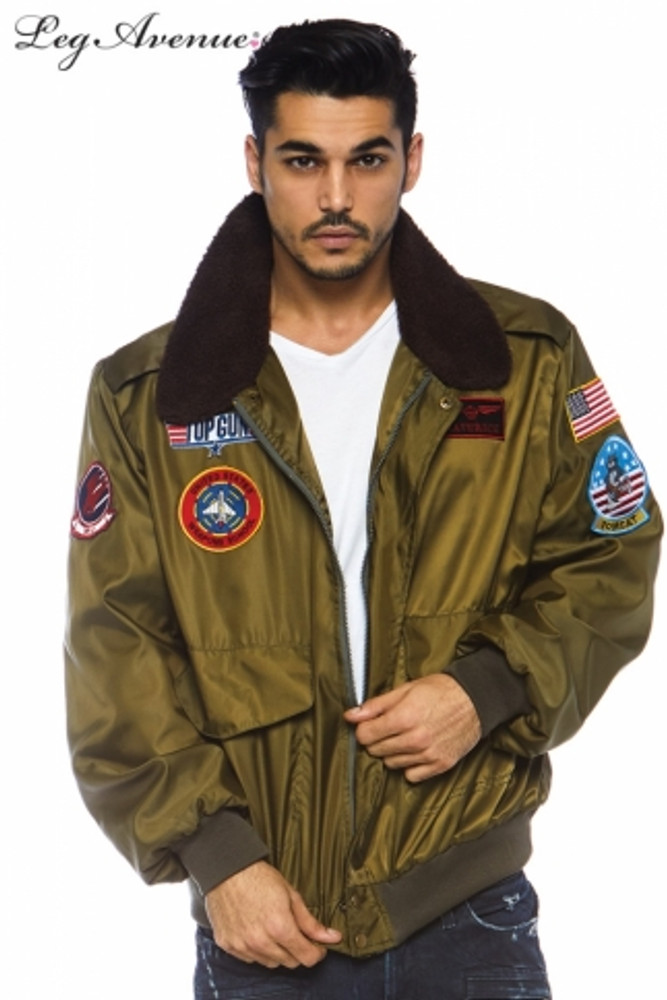 Top Gun Bomber Jacket Nylon Mens Costume