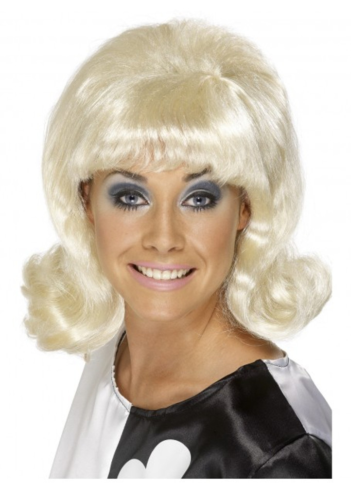 1950's 60's Flick Up Blond Wig