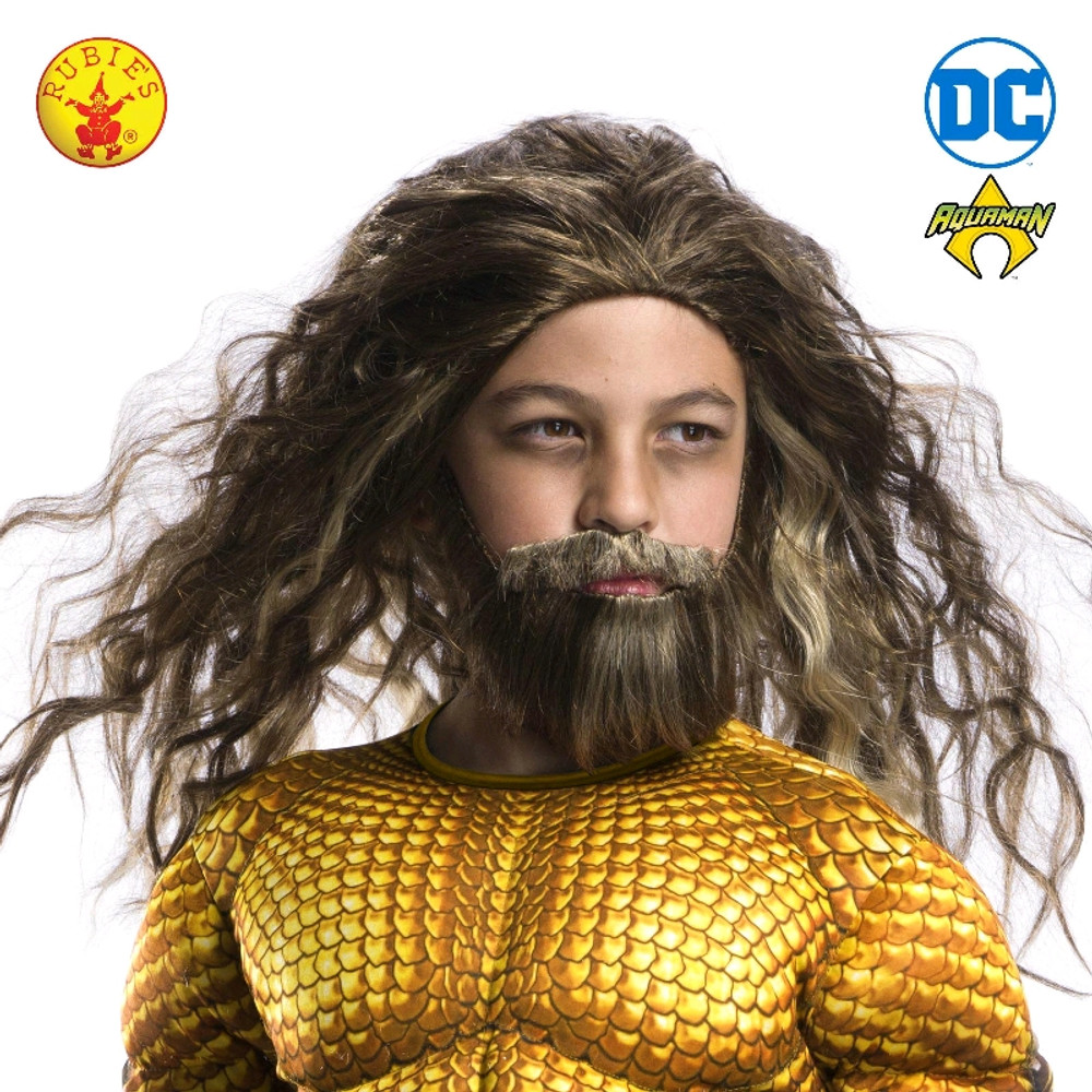 Aquaman Wig & Beard - Child