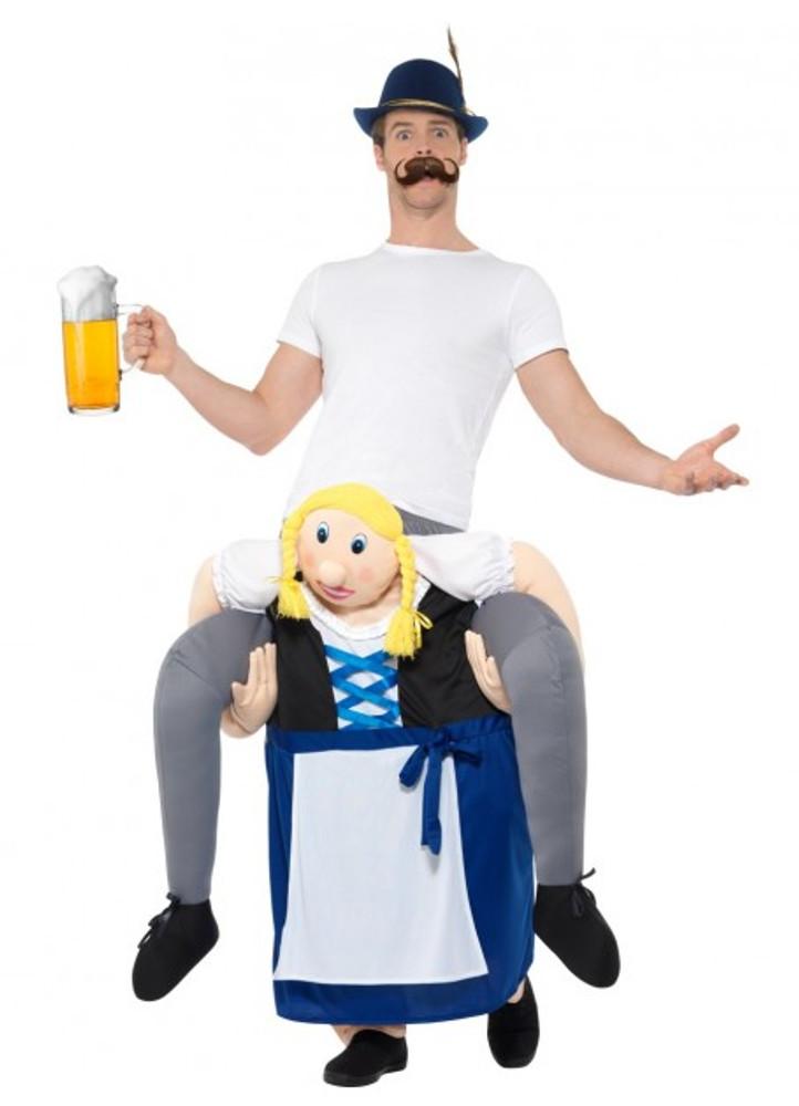 Oktoberfest Bavarian Beer Maiden Piggyback Costume