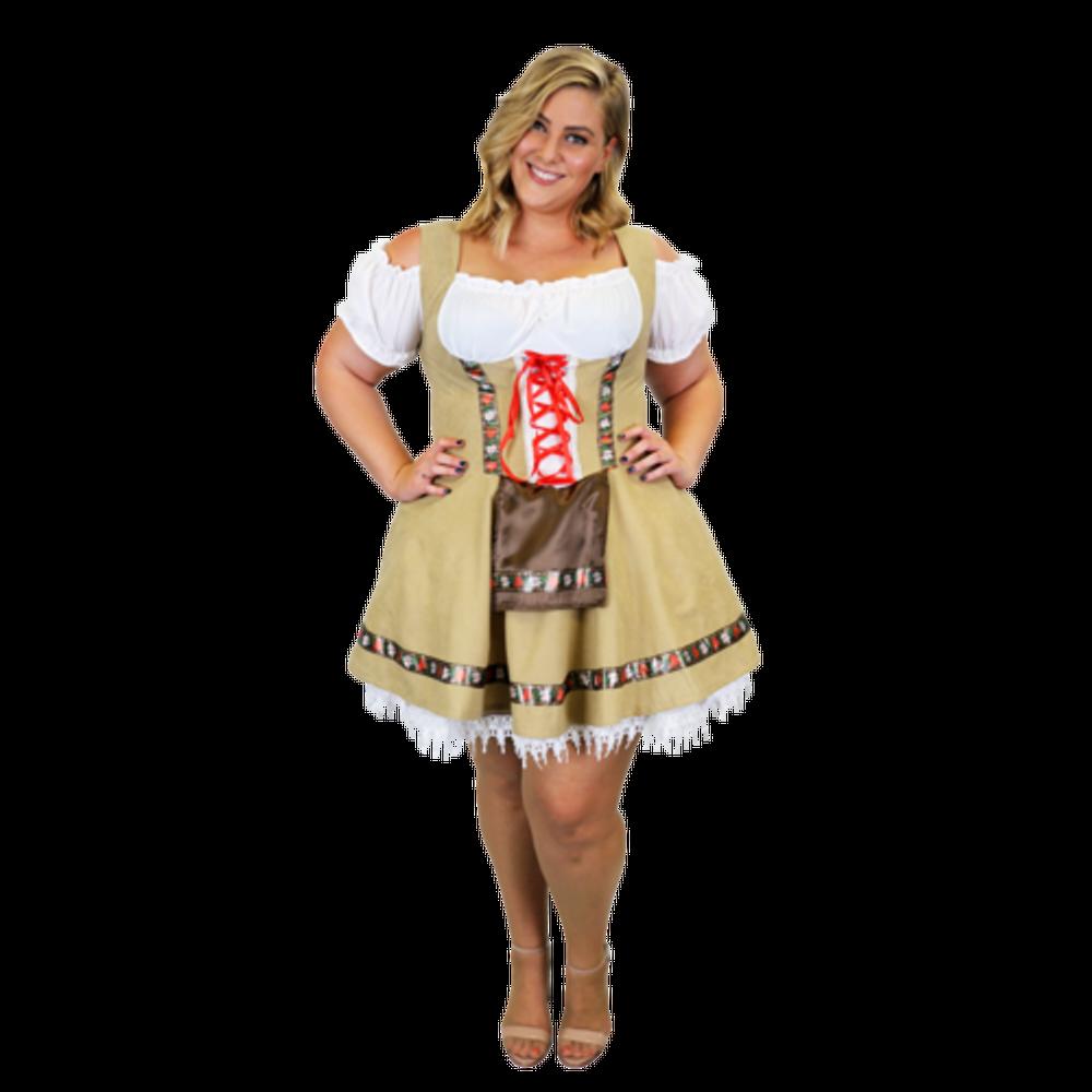 Oktoberfest Alpine Girl Plus Size Costume