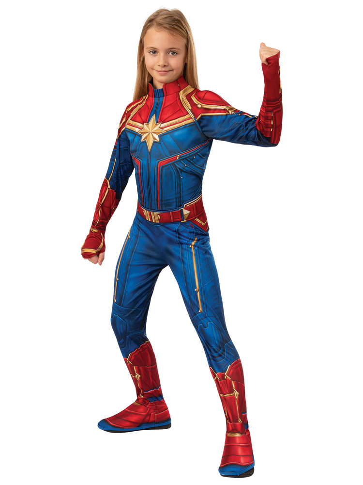 Captain Marvel Hero Suit Girls Costume
