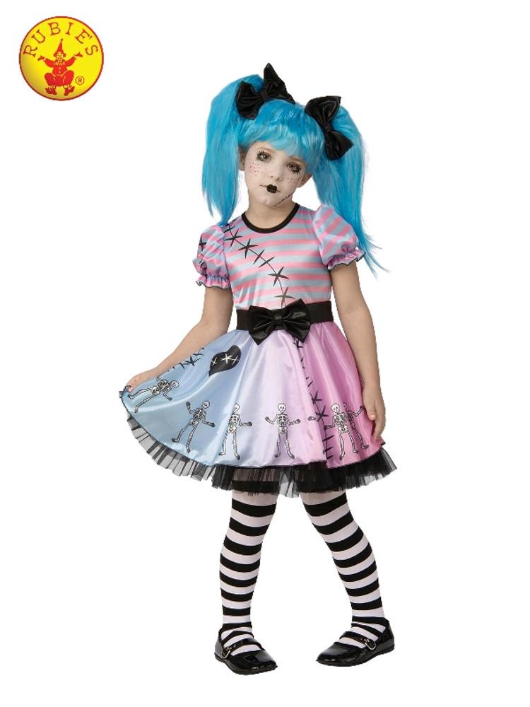 Skeleton Doll Girls Costume