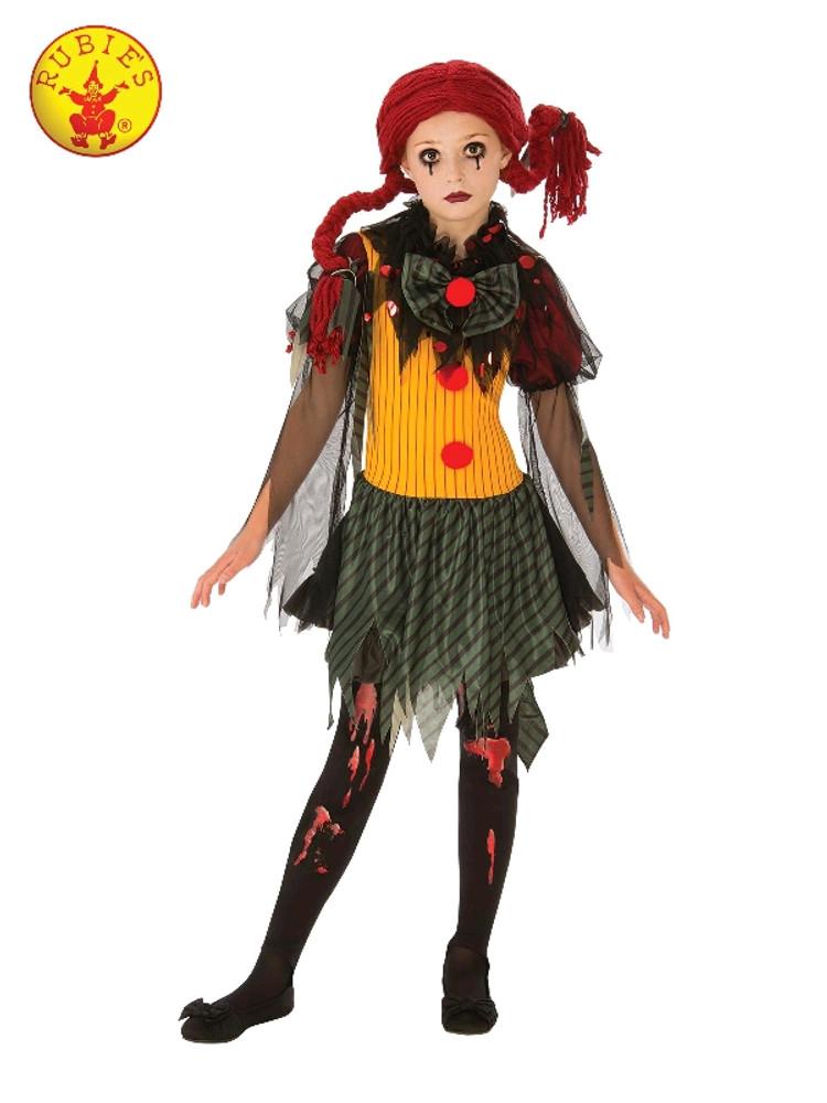 Zombie Clown Girls Costume