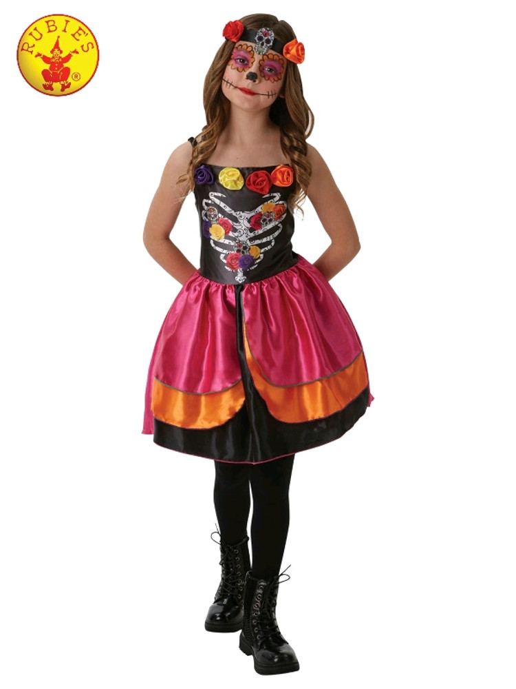 Sugar Skull Day of the Dead Girls Costume