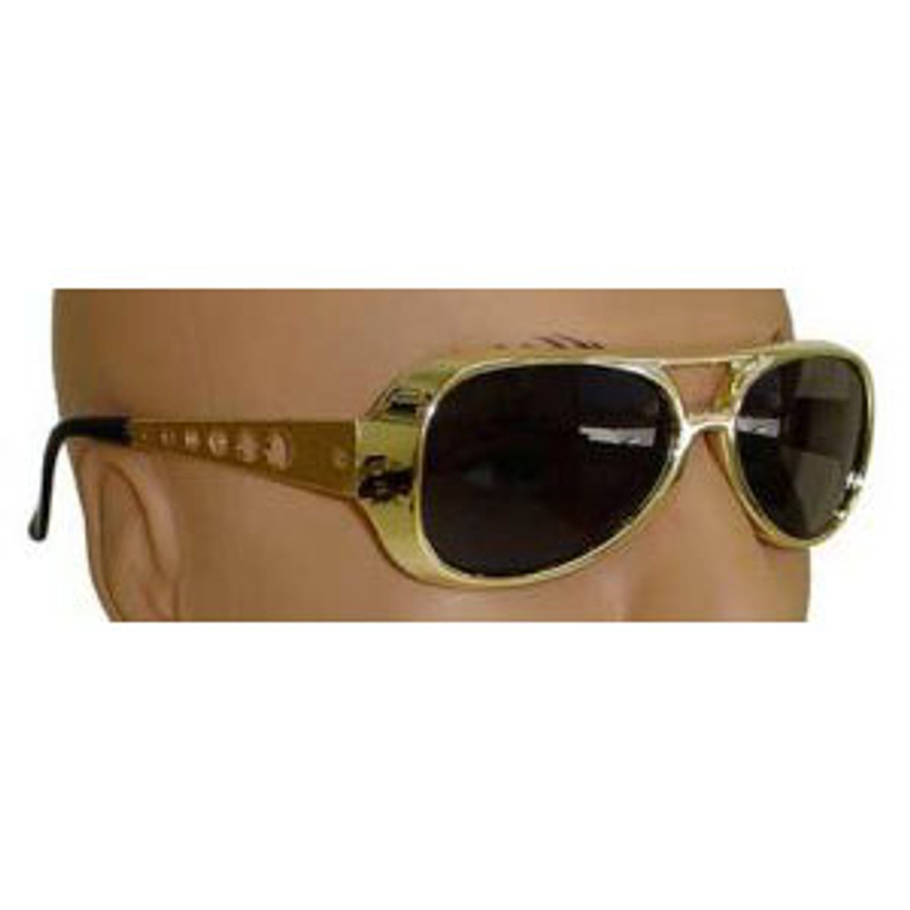 Elvis Glasses - Gold & Black