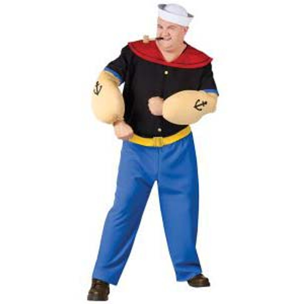 Popeye Mens Costumes Std & Plus Sizes