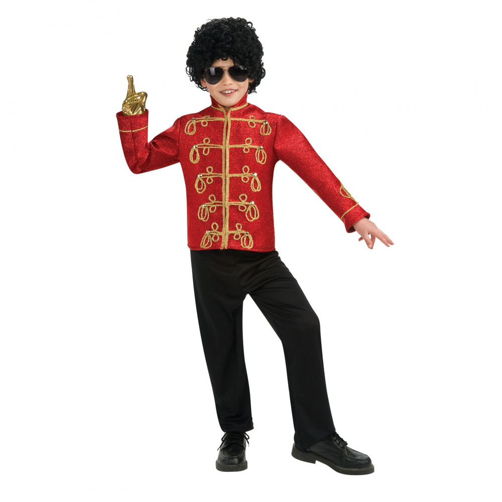 Michael Jackson Deluxe Boys Red Military Costume
