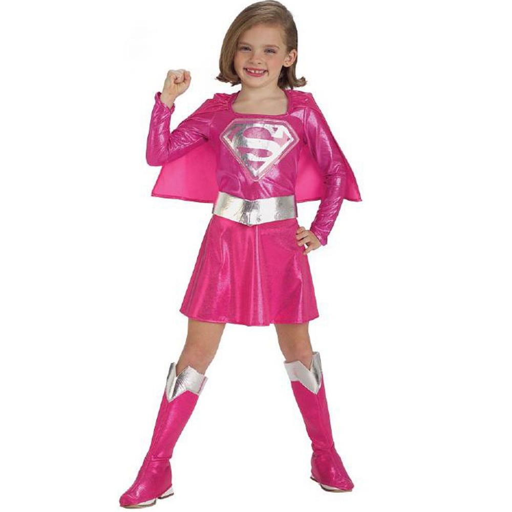 Supergirl Pink Superhero Girls Costume