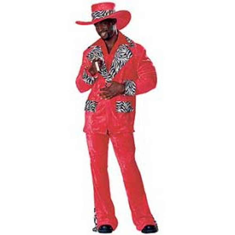 Pimp - Red Hot Playa Mens Costumes