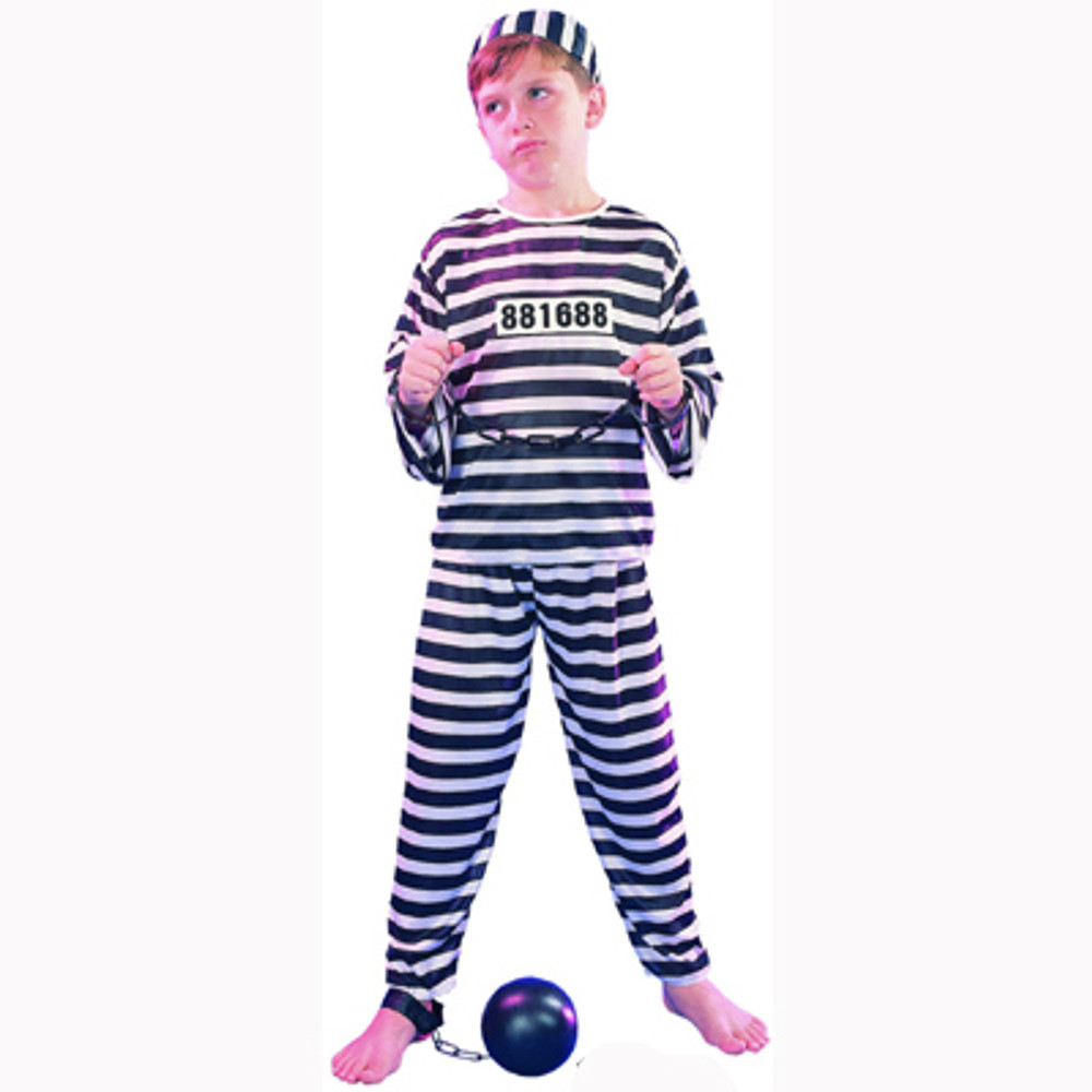Prisoner Jailbird Kids Costume