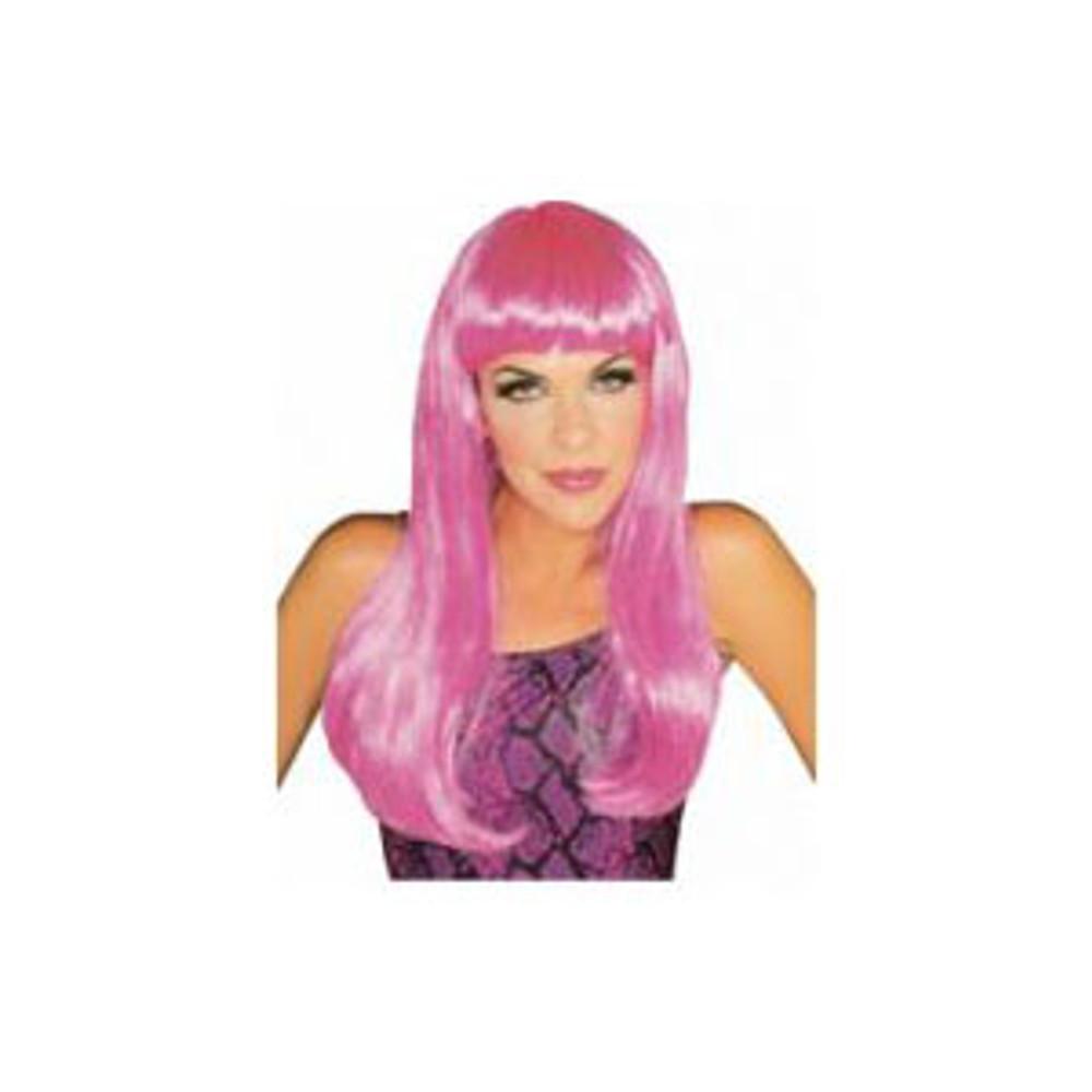 Long Glamour Wig - Pink