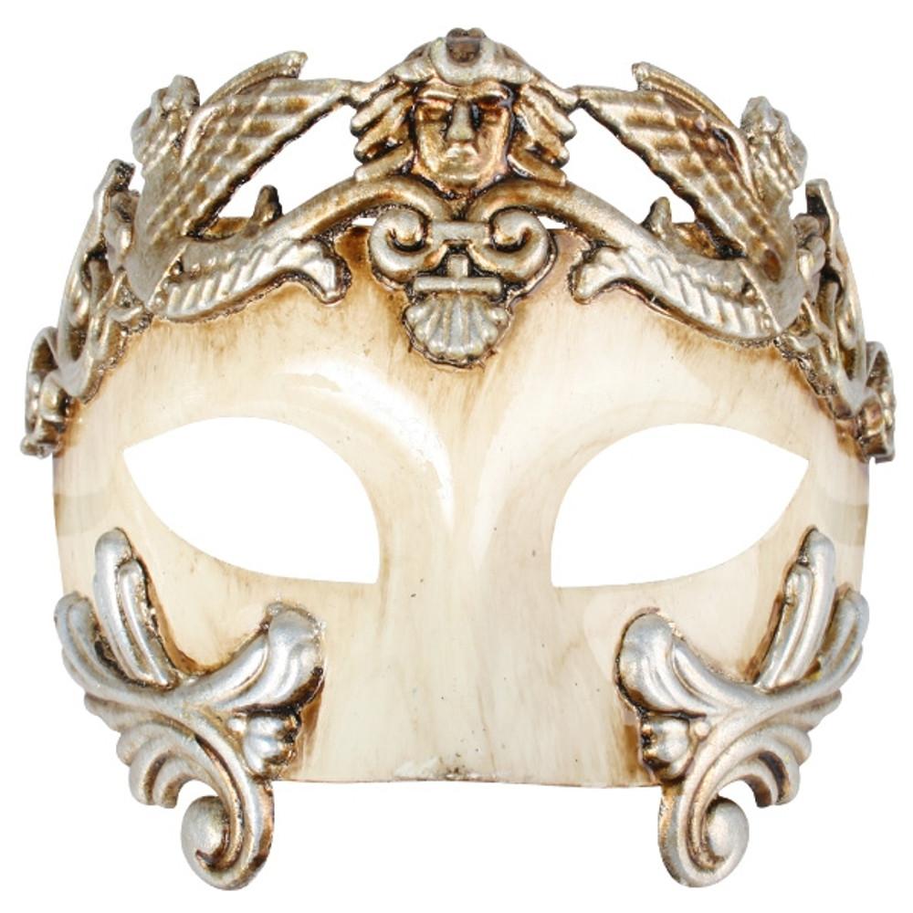 ANTONIO Roman Platinum & Ivory Eye Mask