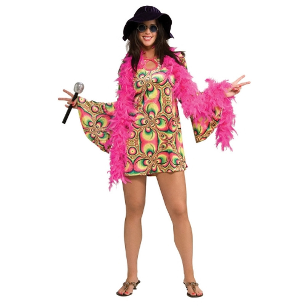 1960's Hippie - Psychadelia Chick Womens Costumes