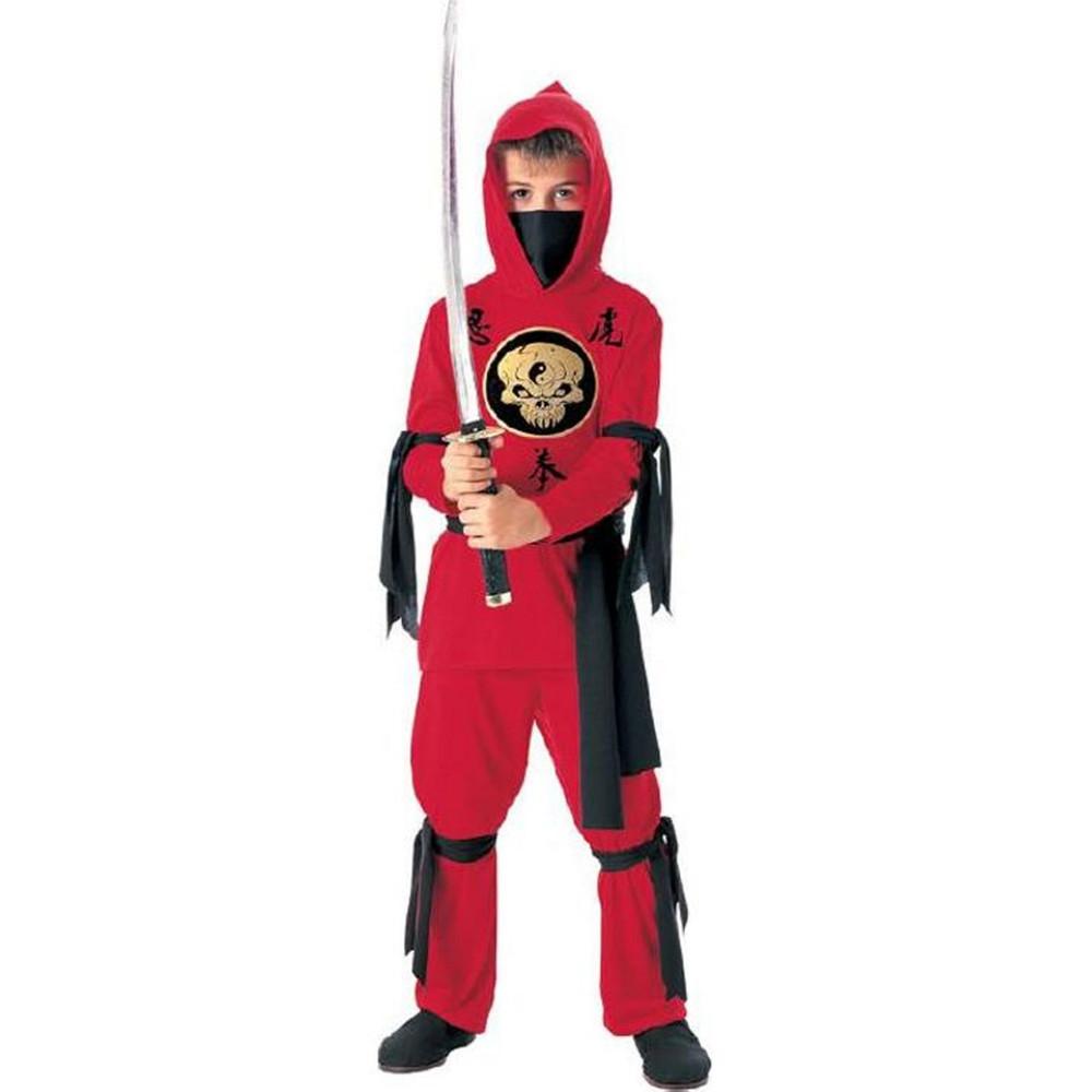 Ninja Red Boys Costume