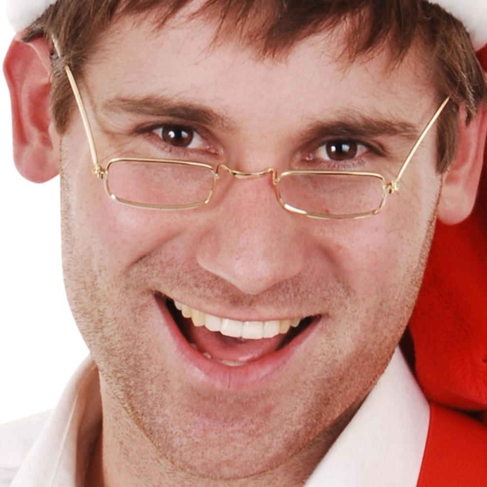 Santa Gold Glasses No Lenses