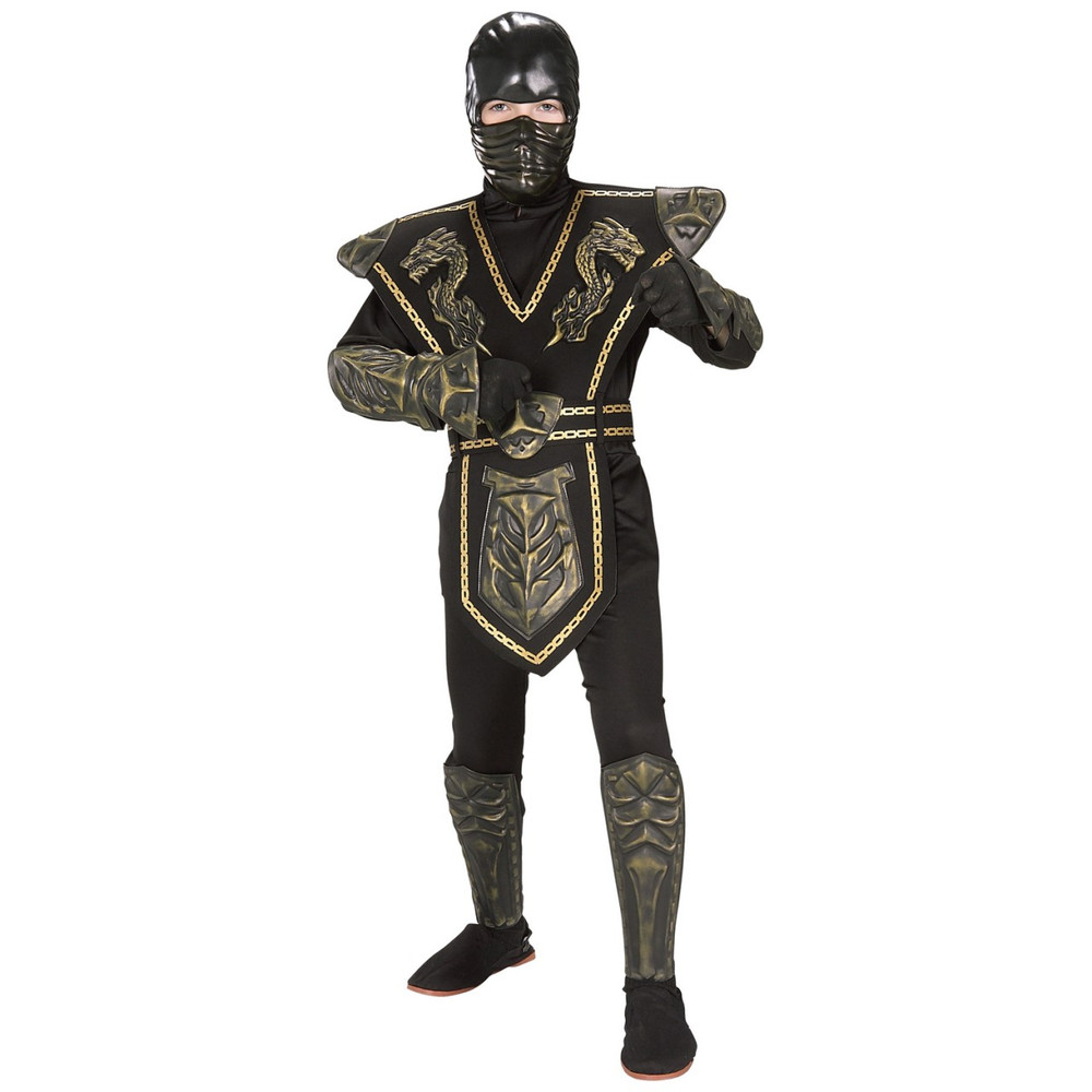 Ninja Gold Dragon Warrior Child Costume