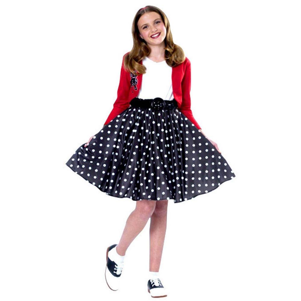 f64e413de655 Polka Dot 50's Rocker Girls Costume
