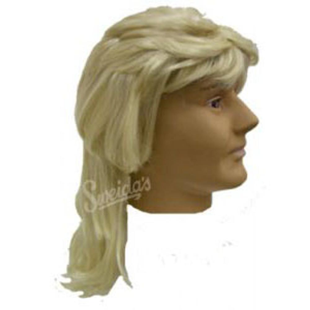 1980s Mullet Wig - Blonde