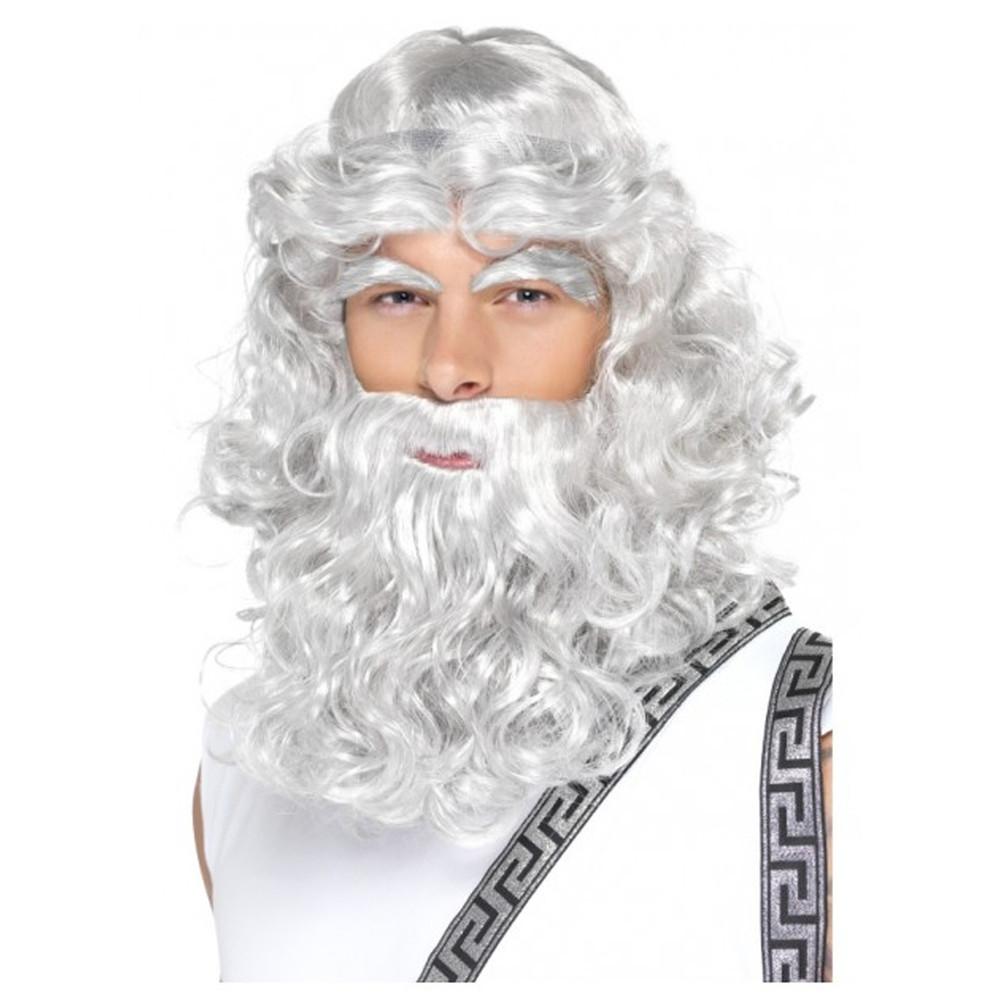 Roman/Greek Zeus Toga Wig and Beard