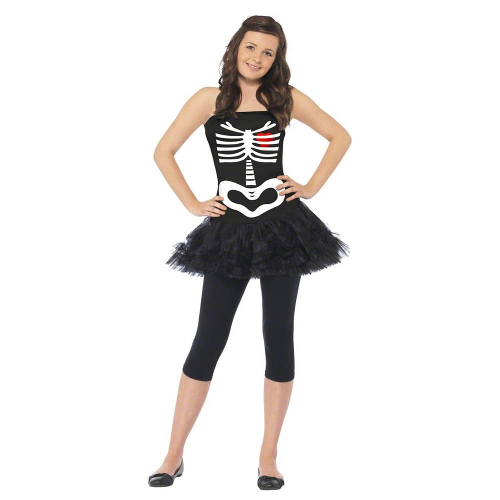 Skeleton Tutu Teen Girl Costume