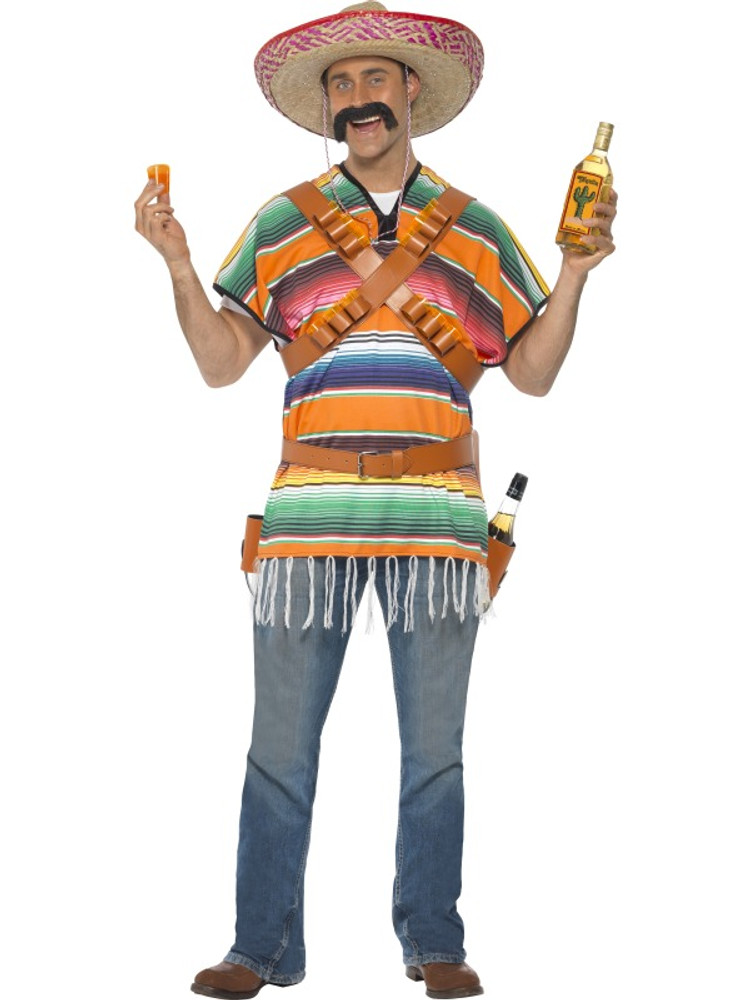 Tequila Shooter Guy Mexican Costume
