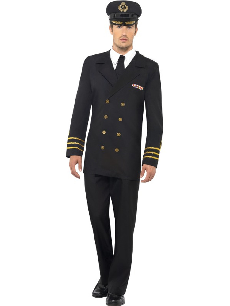 Navy Officer Men's Costume