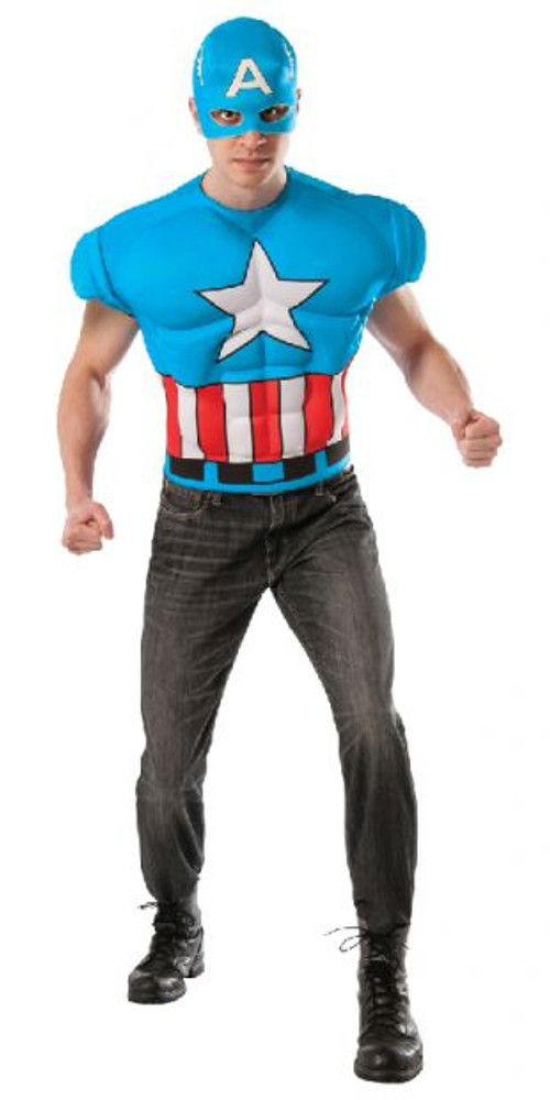 Captain America Muscle Chest Shirt