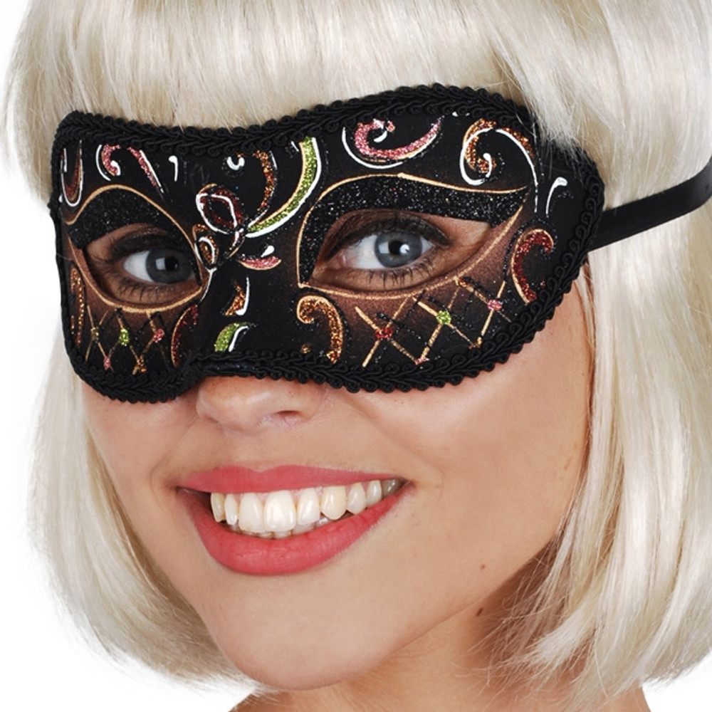Casablanca Brown & Green Eye Mask