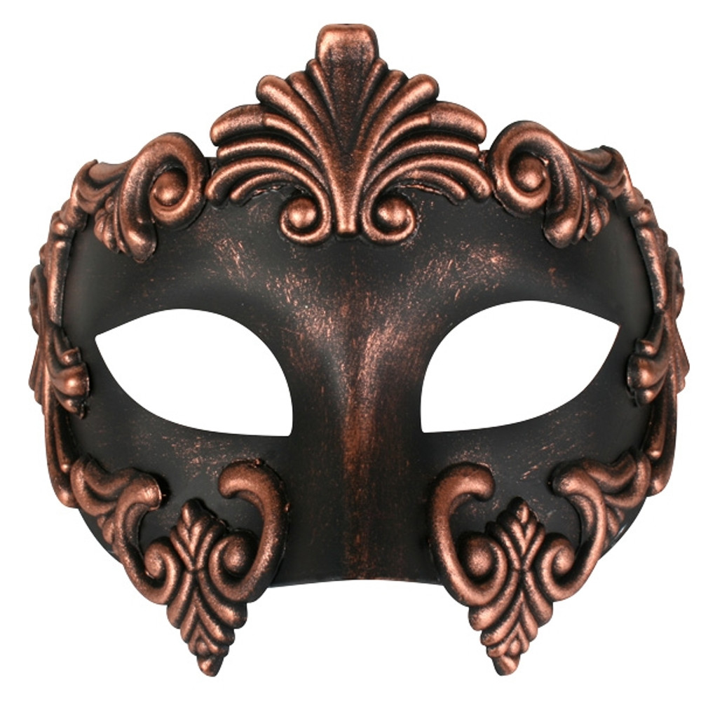 Lorenzo Copper & Black Eye Mask