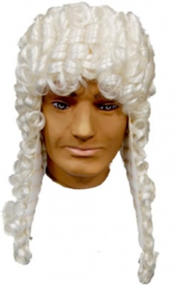 Judge Premium Wig - White