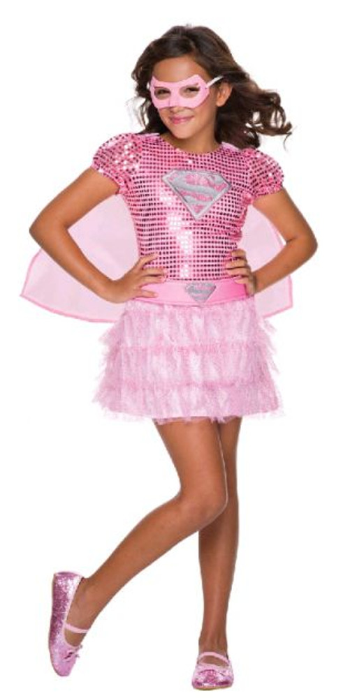 Supergirl Pink Sequin Girls Costume