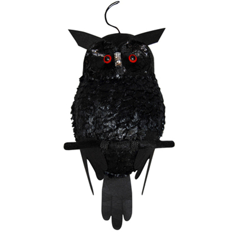 Plush Black Owl w/Light Up Eyes