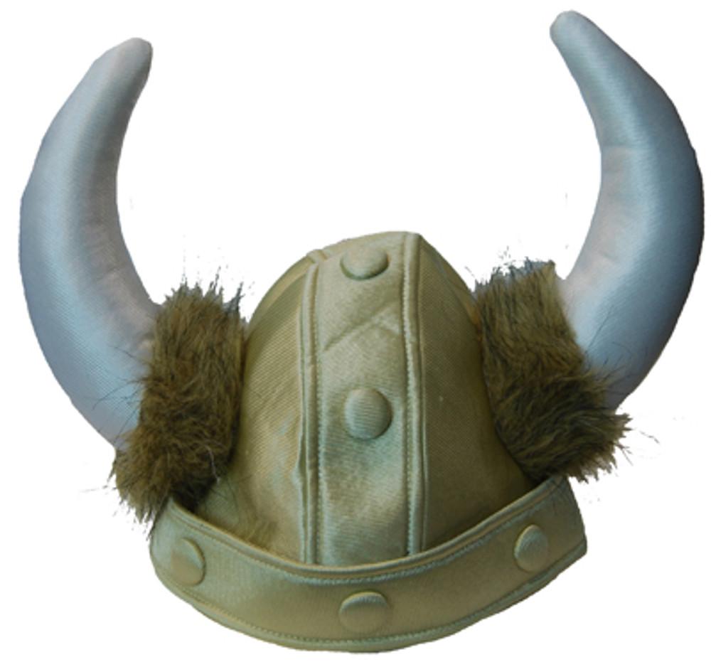 Helmet Plush Gold with horns - Viking