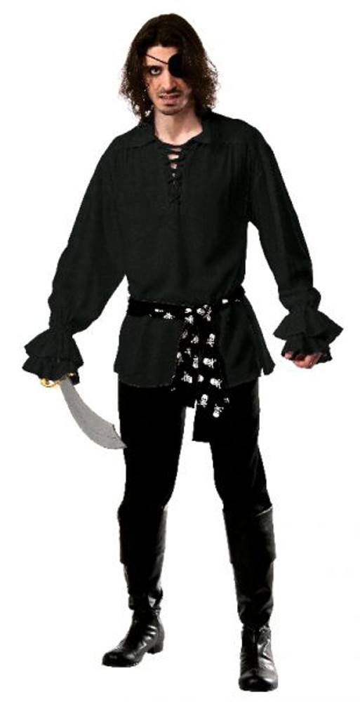 Pirate Shirt Black Cotton
