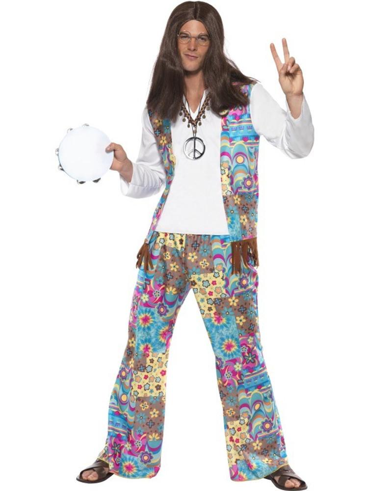 1960s Groovy Hippie Mens Costume