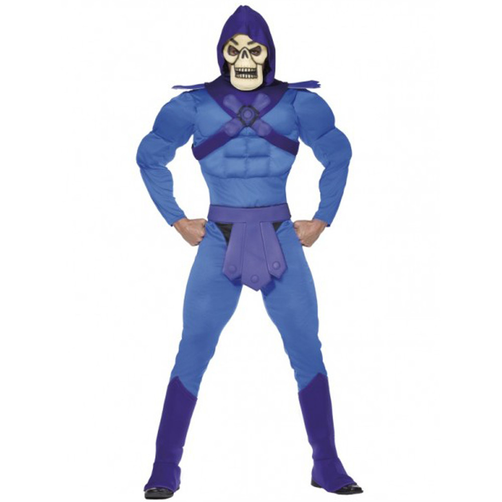 Masters of the Universe Skeletor Muscle Mens Costume
