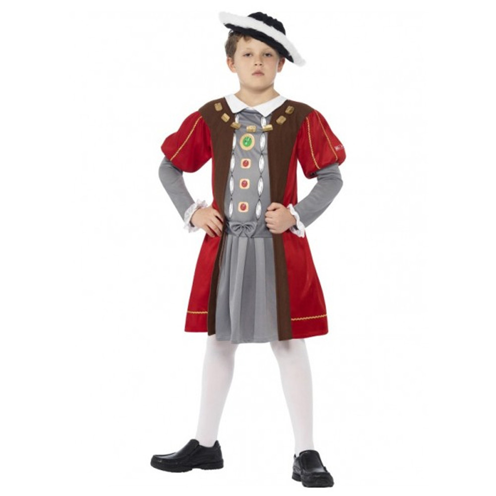 King Henry VIII Medieval Boys Costume