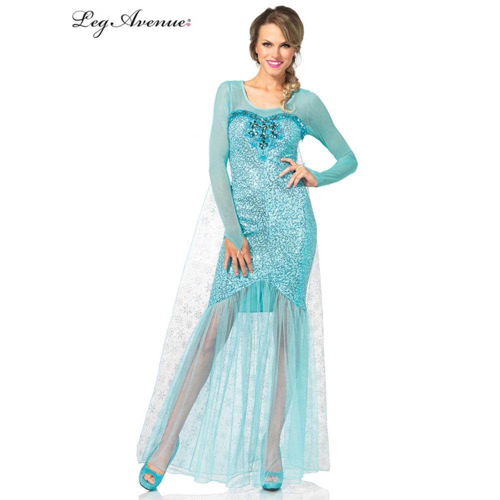 Frozen Elsa Snow Queen Sequin Womens Costume