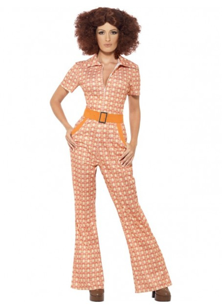 1970s Authentic Chick Jumpsuit Womens Costume