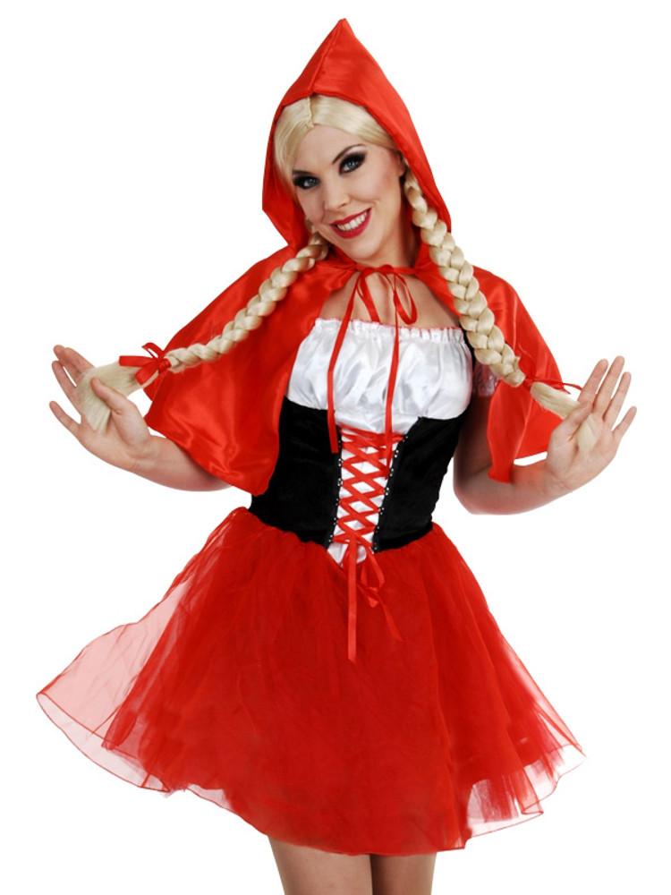 Red Riding Hood Dress & Cape Womens Costume